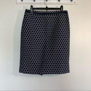 Boden WOW Circle Blue Pencil Skirt #WG520